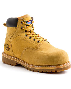 "Dickies Men's Wheat 6"" Prowler Work Boots - Steel Toe, Wheat, hi-res"