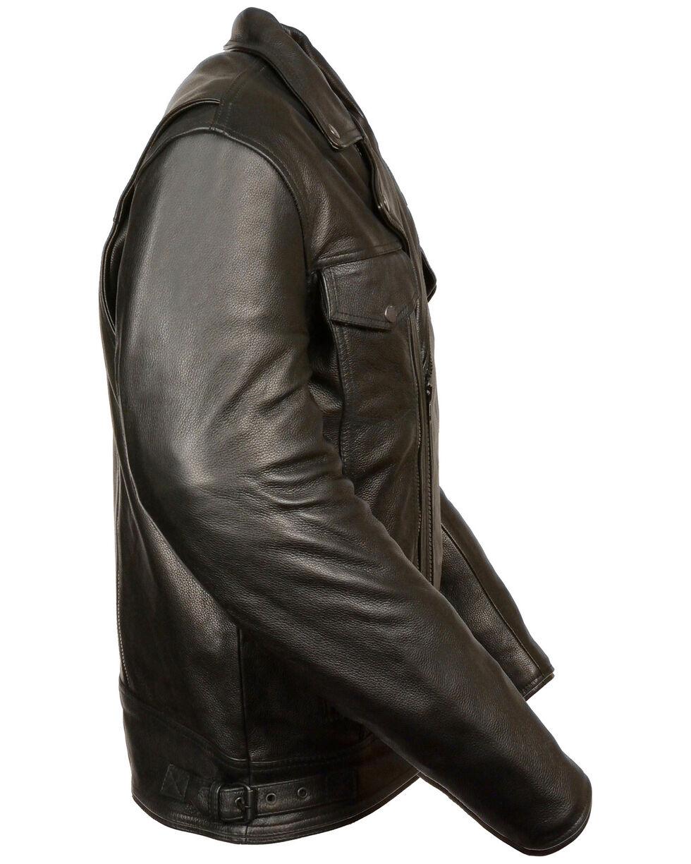 Milwaukee Leather Men's Utility Pocket Motorcycle Jacket - 5X, Black, hi-res