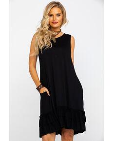 White Label Panhandle Women's Sleeveless Knit Swing Dress , Black, hi-res