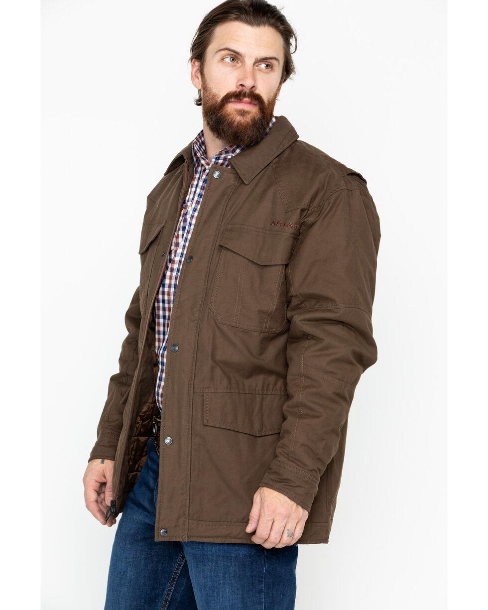 Ariat Men's Waggoner Canvas Carafe Jacket , Brown, hi-res