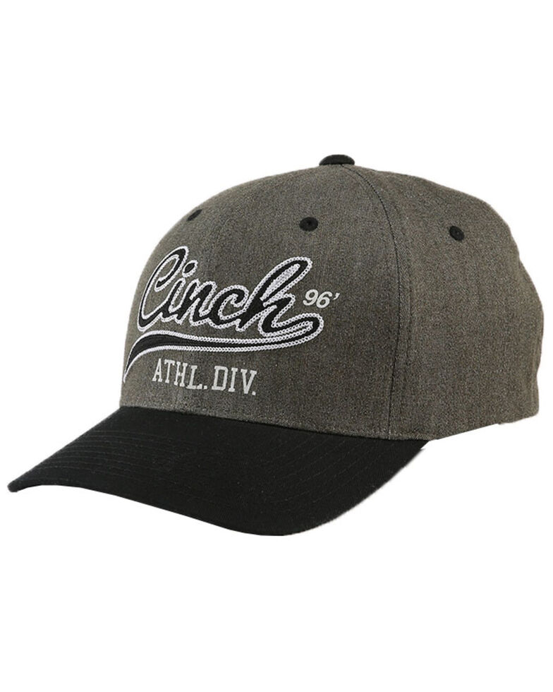 Cinch Men's Fitted Flex Fit Embroidered Logo Cap  , Olive, hi-res