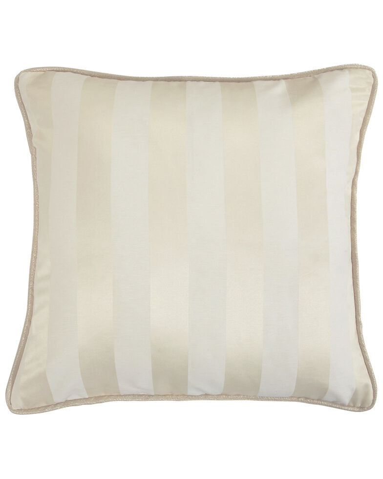 HiEnd Accents Hollywood Cabana Stripe Euro Sham, Cream, hi-res