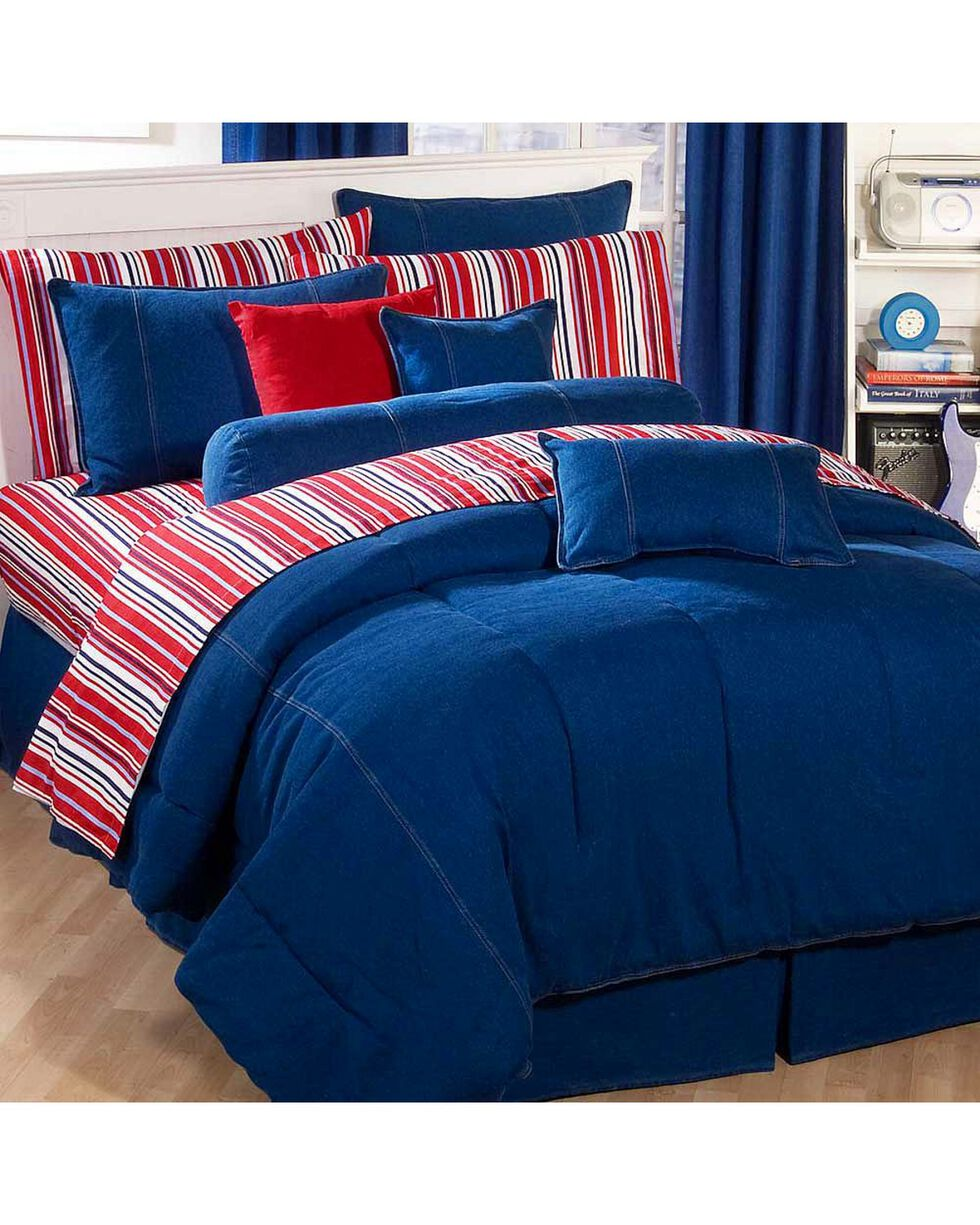 Karin Maki Denim Queen Comforter, Denim, hi-res