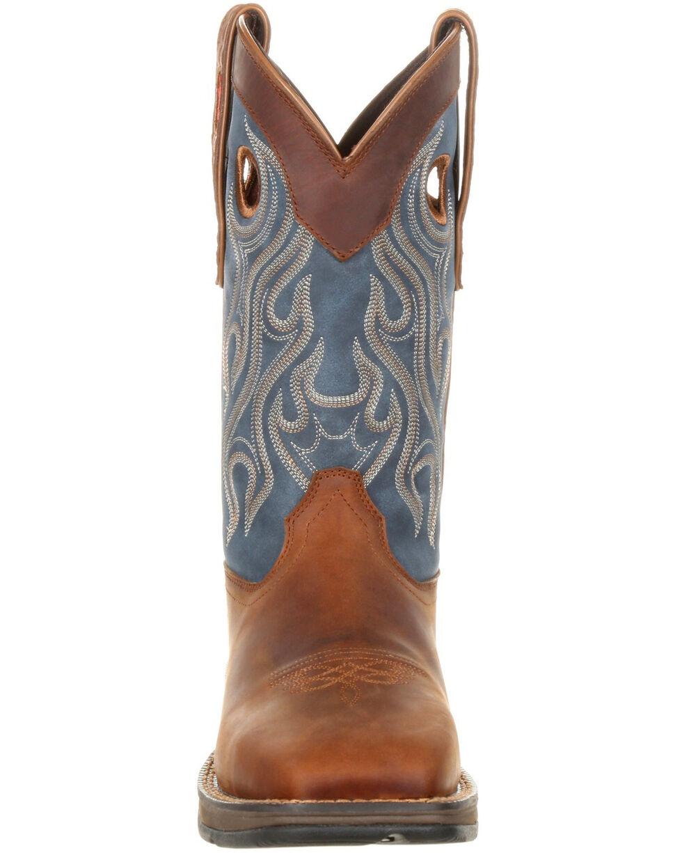Durango Men's Rebel Pull-On Western Work Boots - Steel Toe, Brown, hi-res