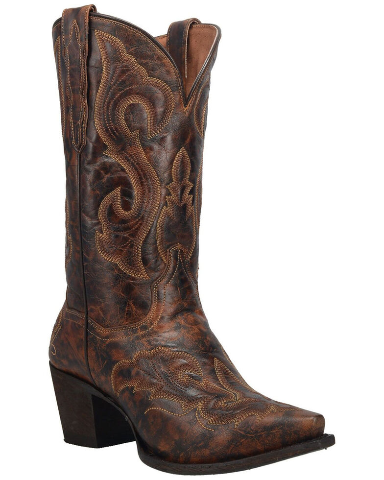 Dan Post Women's Marcella Western Boots - Snip Toe, Dark Brown, hi-res