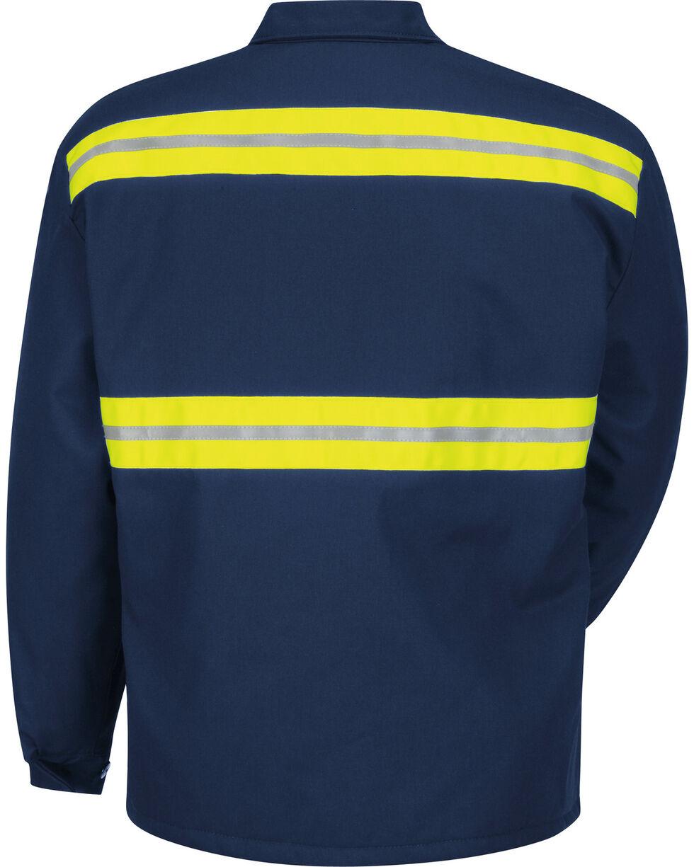 Red Kap Men's Enhanced Visibility Perma-Lined Flannel Jacket - Big & Tall, , hi-res