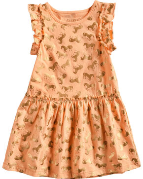 Shyanne Toddler Girls' Horse Printed Dress, Pink, hi-res