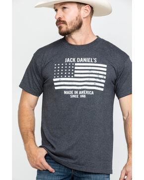 Jack Daniels' Men's Grey Flag Graphic T-Shirt , Grey, hi-res
