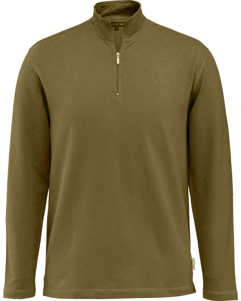 Wolverine Men's Benton 1/4 Zip Long Sleeve Shirt Jacket, Bark, hi-res