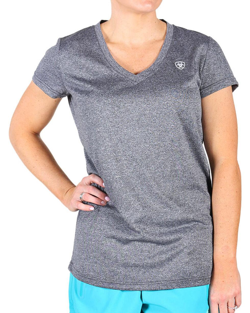 AriatTek Women's Laguna Short Sleeve Shirt, Charcoal, hi-res