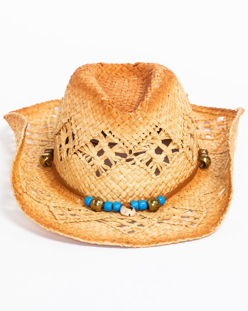 ále by Alessandra Women's Waimea Cowgirl Raffia Hat , Natural, hi-res
