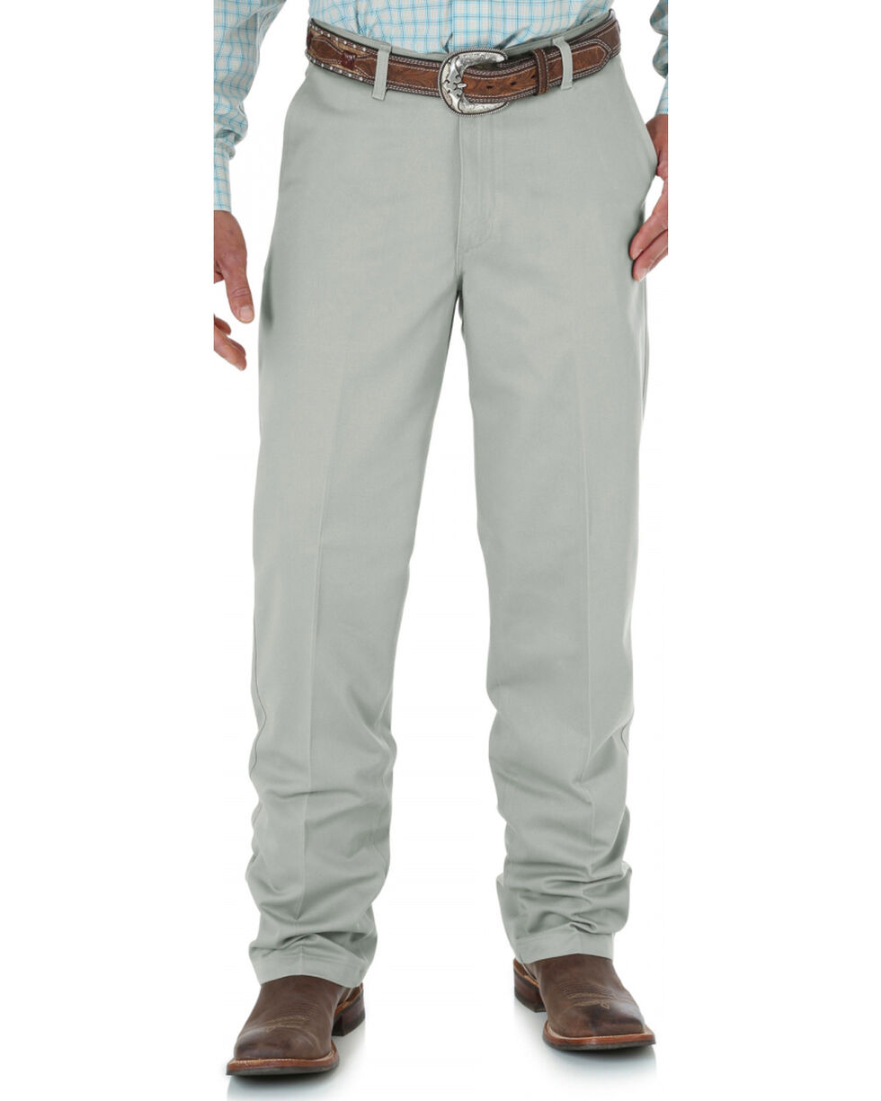Wrangler Men's Riata Flat Front Relaxed Fit Pants, Putty, hi-res