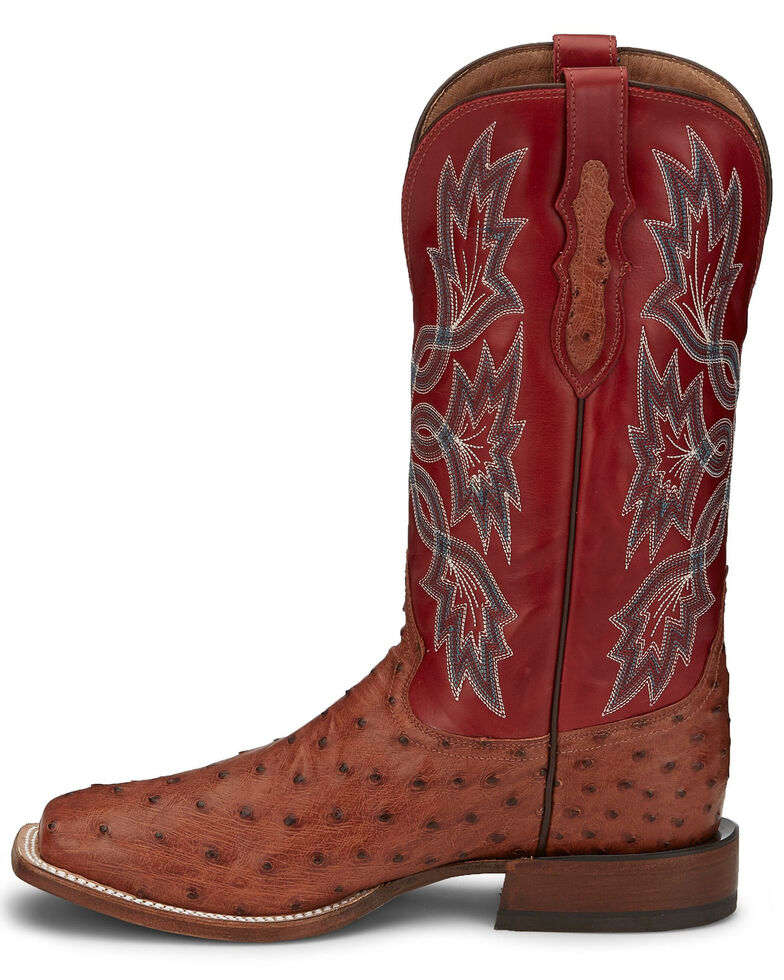 Tony Lama Men's Royston Brandy Western Boots - Square Toe, Brown, hi-res
