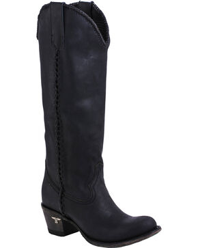 Lane Women's Plain Jane Western Round Toe Western Boots, Black, hi-res