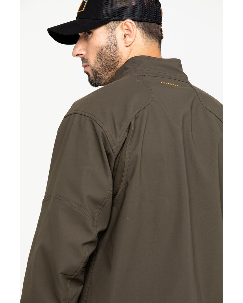 Ariat Men's Rebar Stretch Canvas Softshell Work Jacket - Big & Tall , Loden, hi-res