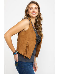 Idyllwind Women's Wild West Vest , Tan, hi-res