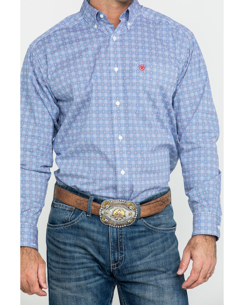 Ariat Men's Glaston Geo Print Long Sleeve Western Shirt - Tall , Multi, hi-res