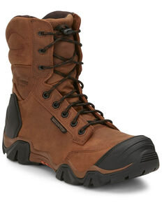 Chippewa Men's Atlas Waterproof Work Boots - Composite Toe, Brown, hi-res