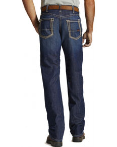 Ariat Men's Fire-Resistant M4 Bootcut Work Jeans, Denim, hi-res