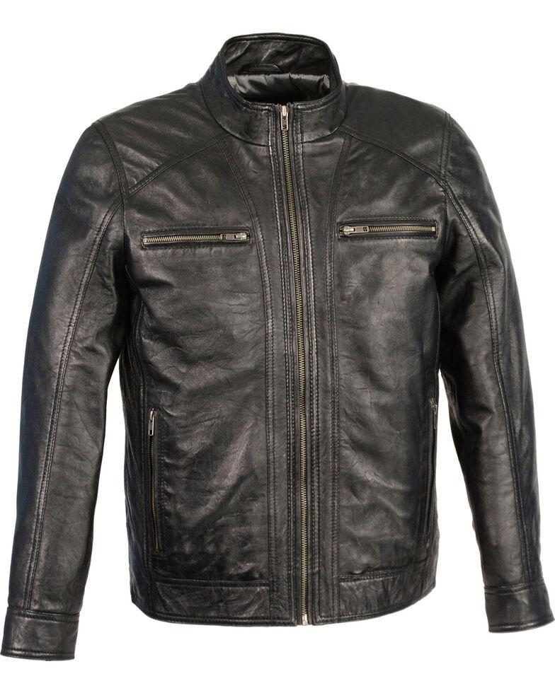 Milwaukee Leather Men's Sheepskin Moto Leather Jacket - 3X , Black, hi-res