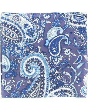 M&F Paisley Silk Wild Rag, Blue, hi-res