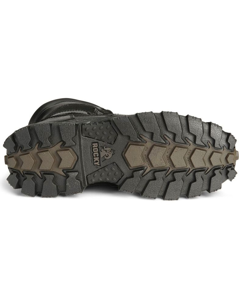 Rocky Men's Alpha Force Zipper Duty Boots, Black, hi-res