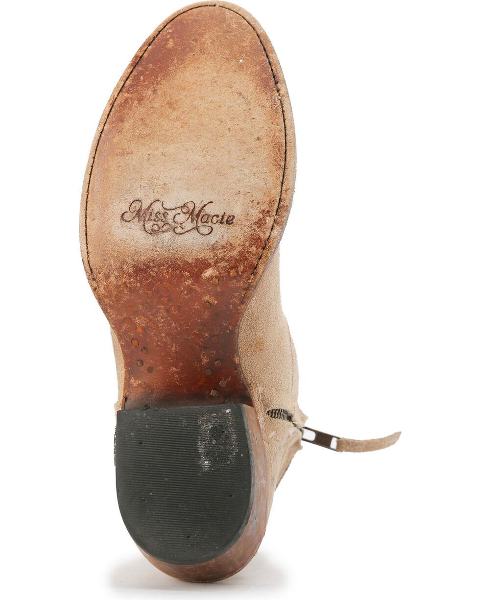 Miss Macie Women's Tan Plum Tired Short Booties - Round Toe , Cream, hi-res