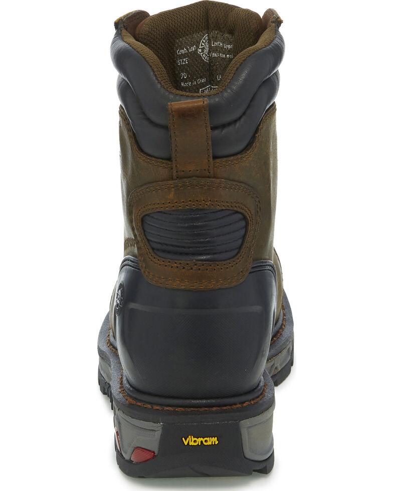 Justin Men's Warhawk Waterproof Composite Toe Work Boots, Brown, hi-res