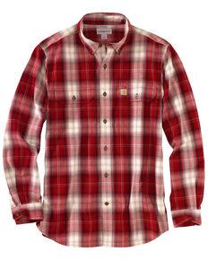 507eb43bb0 Carhartt Men's Fort Plaid Long-Sleeve Shirt - Big & Tall