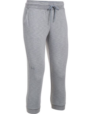 Under Armour Women's Grey Ocean Shoreline Terry Capris, Grey, hi-res