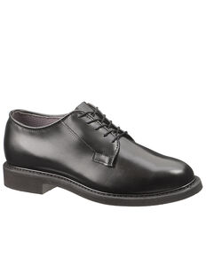 Bates Men's Black Leather Oxford Shoes, Black, hi-res