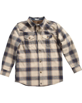 Cody James Boy's Bear Creek Flannel Shirt Jacket, Tan, hi-res