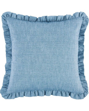 HiEnd Accents Chambray Euro Sham , Light Blue, hi-res