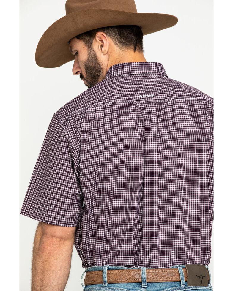 Ariat Men's Ladera Stretch Plaid Short Sleeve Western Shirt , Brown, hi-res