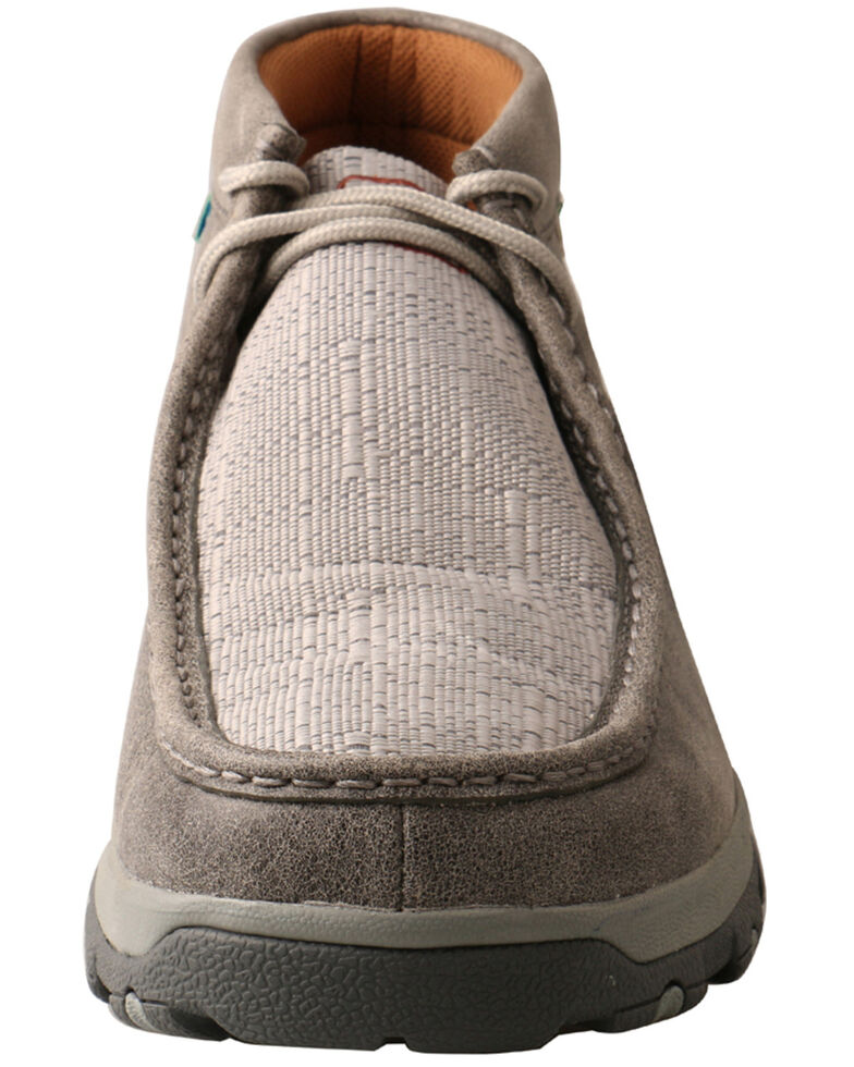 Twisted X Men's CellStretch Chukka Driving Shoes - Moc Toe, Grey, hi-res
