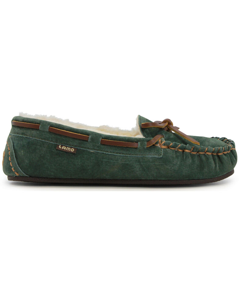 Lamo Footwear Women's Britain Moccasins, Dark Green, hi-res