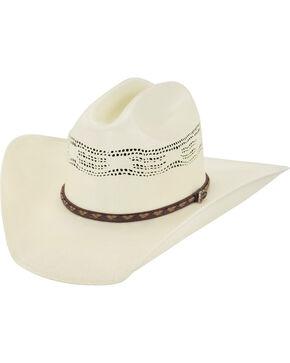 Justin 20X Bryson Straw Cowboy Hat, Natural, hi-res