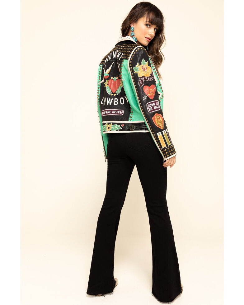Double D Ranch Women's Midnight Cowboy Jacket, Multi, hi-res
