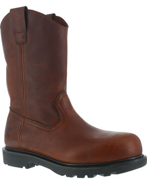 Iron Age Men's Hauler Composite Toe Wellington Work Boots, Brown, hi-res