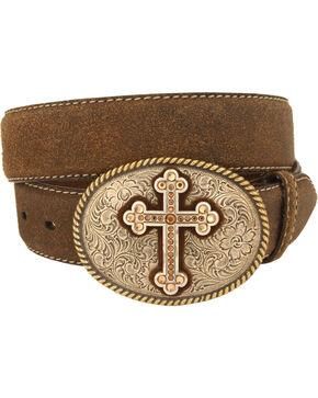 Nocona Women's Vintage Cross Belt, Brown, hi-res