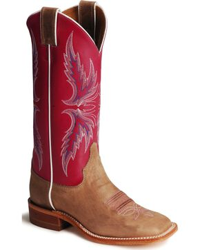 Justin Women's Bent Rail Western Boots, Tan, hi-res