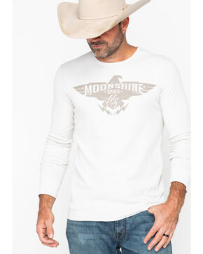 Moonshine Spirit Men's Eagle  Long Sleeve Thermal Shirt, Tan, hi-res