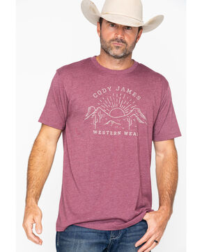 Cody James Men's Horizon Short Sleeve T-Shirt, Burgundy, hi-res