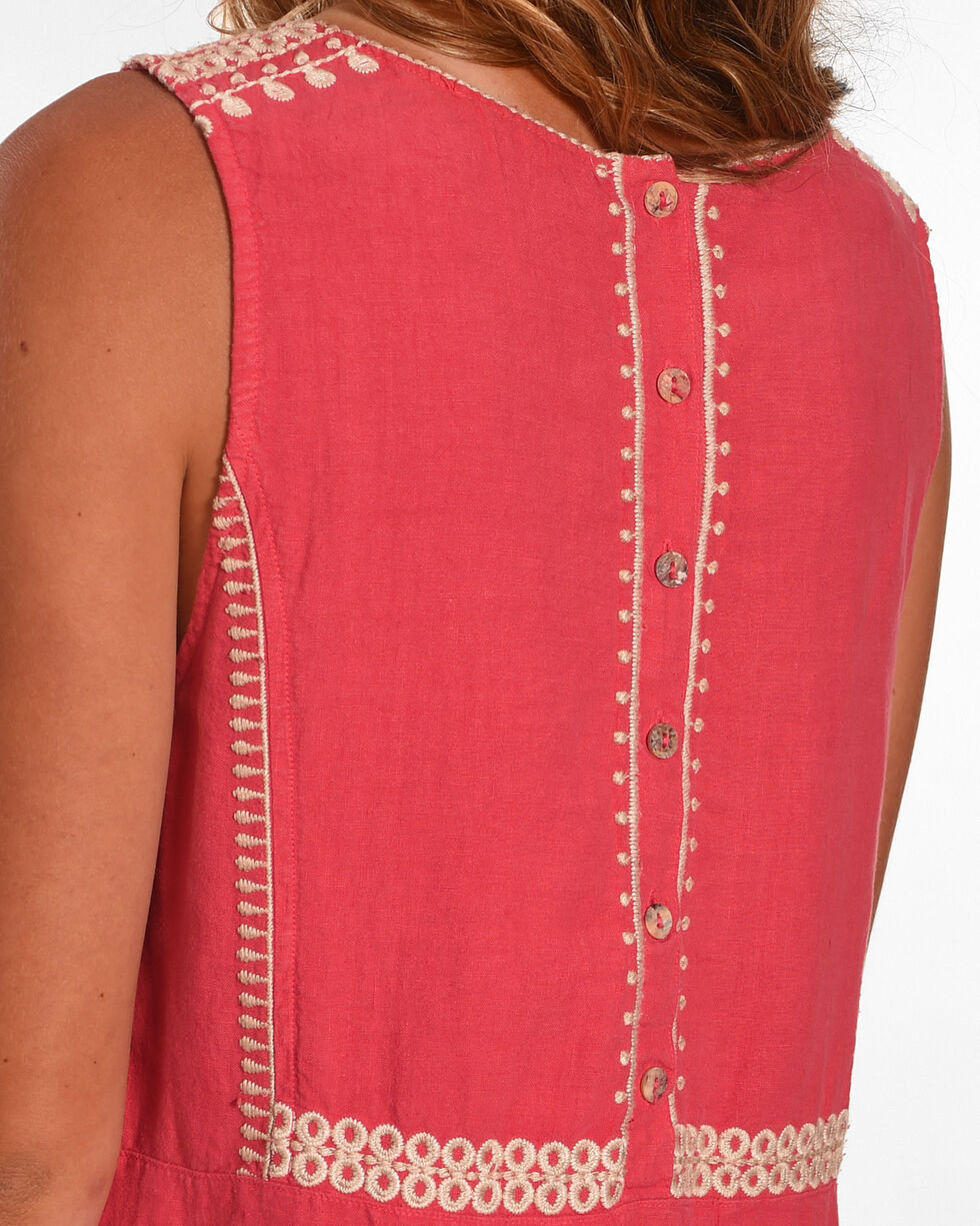 Johnny Was Women's Coral Briar Button Back Dress, Coral, hi-res