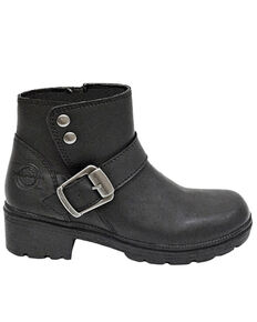 Milwaukee Motorcycle Clothing CO. Women's Capri Moto Boots - Round Toe, Black, hi-res