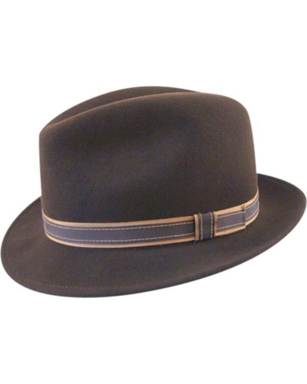 Country Gentleman Brown Clooney Fedora  , Brown, hi-res
