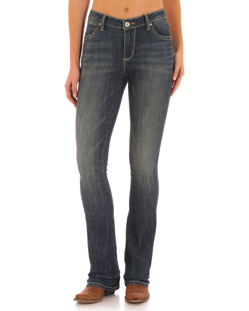 Aura from Wrangler Women's Instantly Slimming Boot Cut Jeans, Indigo, hi-res