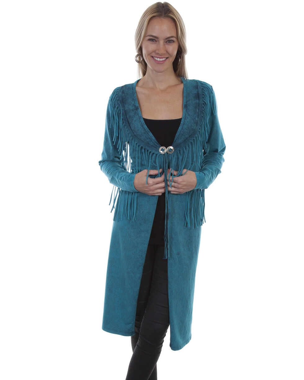 Honey Creek By Scully Women's Fringe Concho Duster , , hi-res