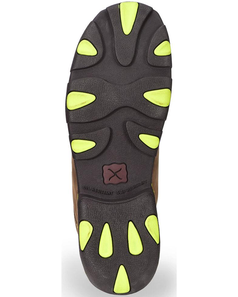 Twisted X Men's Steel Toe Driving Mocs, Brown, hi-res