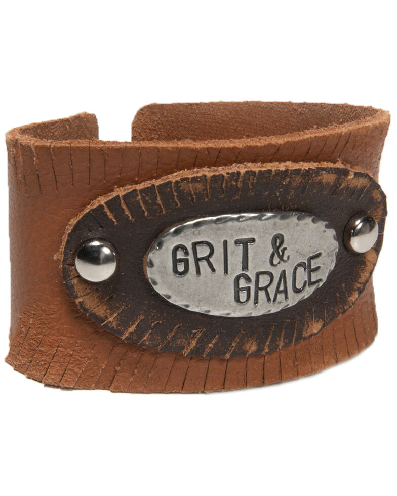 Cowgirl Confetti Women's Grit & Grace Cuff, Tan, hi-res